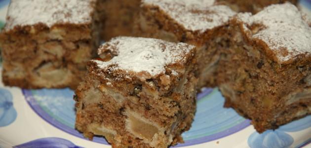 Пирожные с яблоками и грецкими орехами
