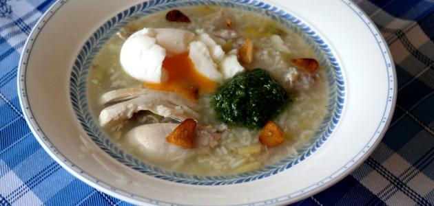 Настоящий португальский куриный суп